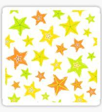 Starfruit Background Painted Pattern Sticker