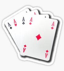Poker of Aces Sticker