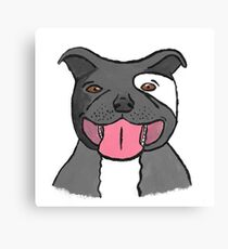 Pit Bull Puppy Canvas Print