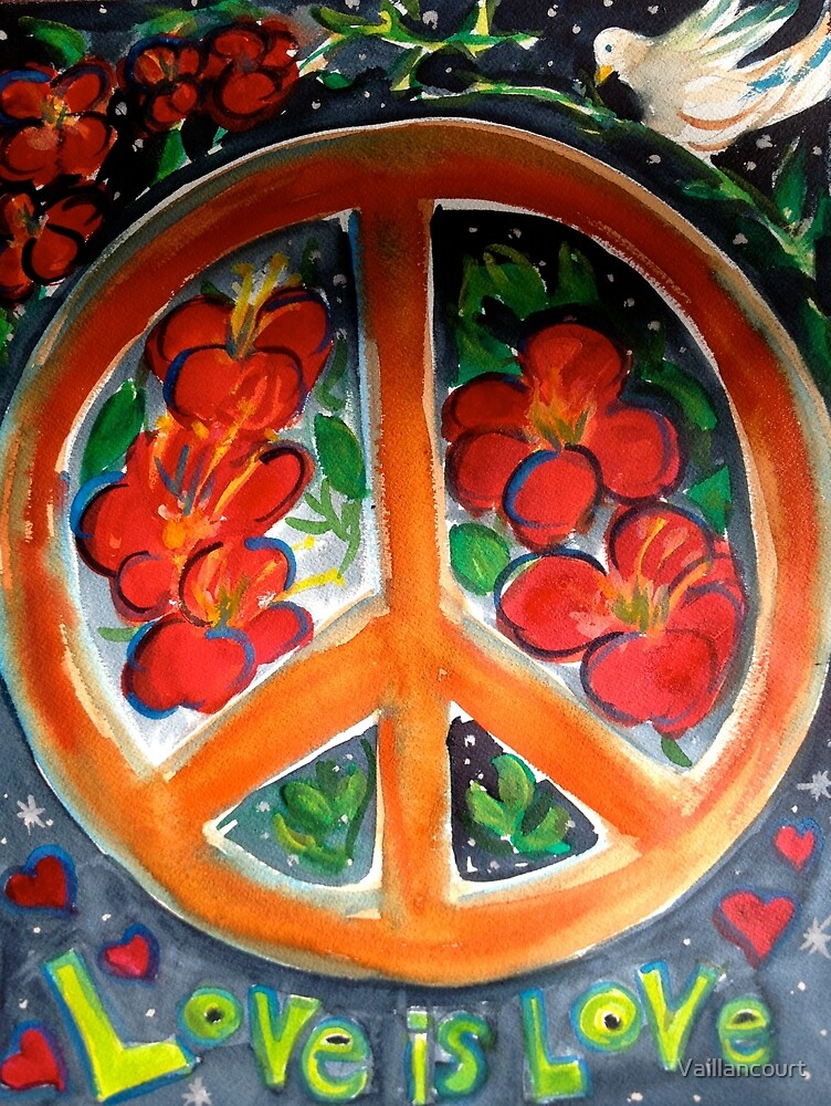 Peace and Love by Vaillancourt