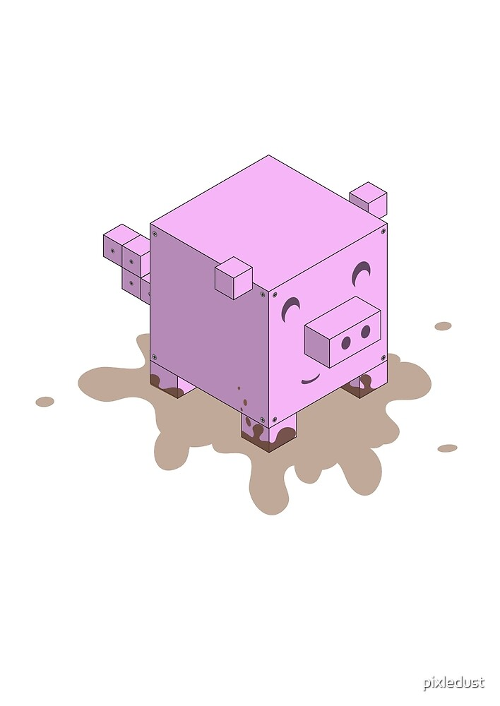 Cubism - Piggy by pixledust