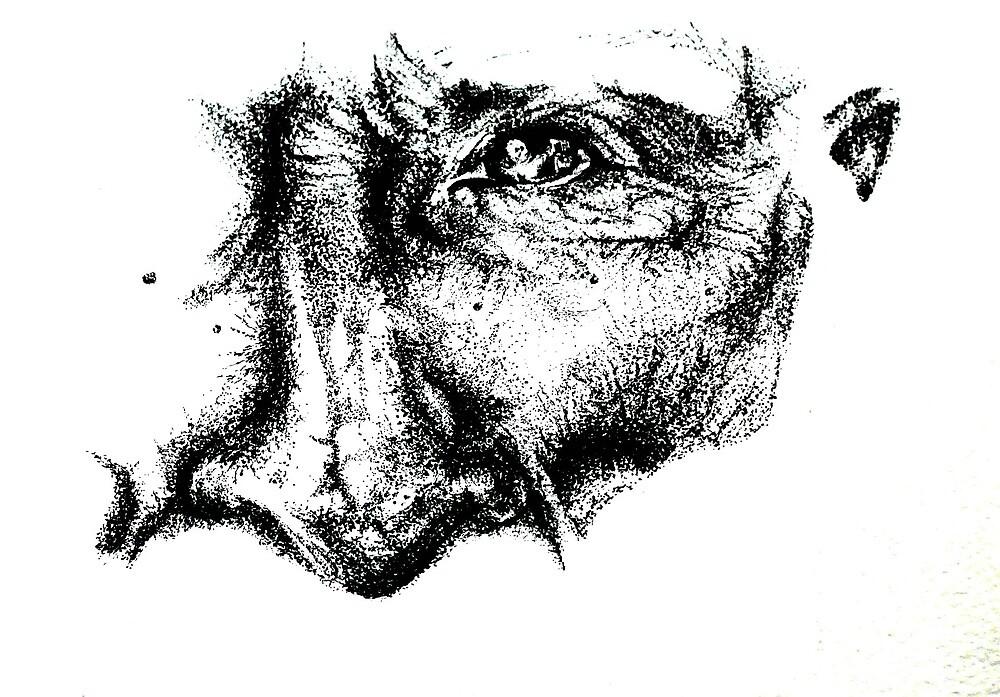 Half Stipple Face by laurenartdesign