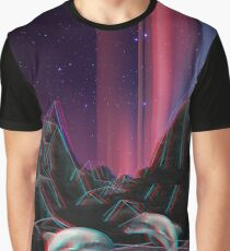 80s Vaporwave Retro Dolphins Anaglyph  Graphic T-Shirt