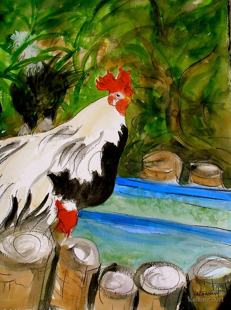 Exotic Rooster by Vaillancourt