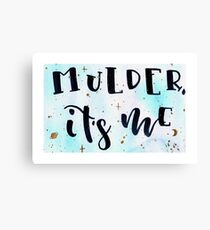 Mulder it's me Canvas Print