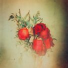Vintage Red Roses by VictoriaHerrera
