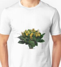 Yellow flower bouquet On white background  Unisex T-Shirt