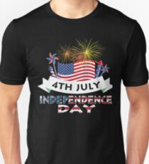 4th July Independence Day T-Shirt Independence Day Gift Unisex T-Shirt