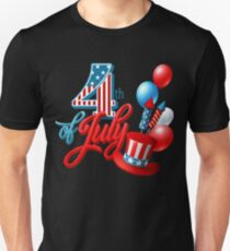 4th of July 2017 T Shirt Independence Day Gift T-Shirt Unisex T-Shirt
