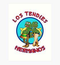 Los Tendies Hermanos (Pepe the Frog - Breaking Bad) Art Print