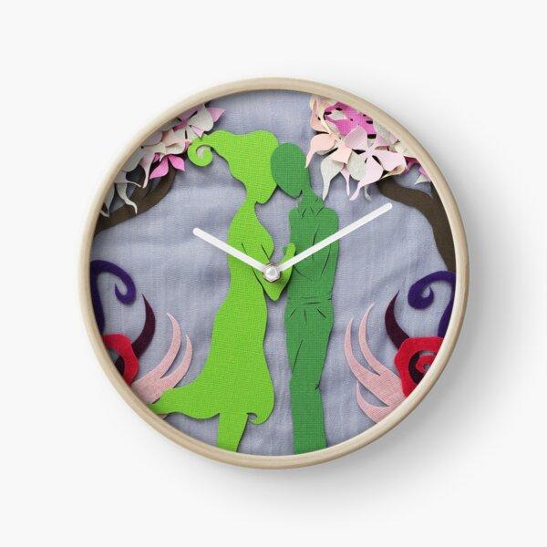 Spring Kiss #3 Clock