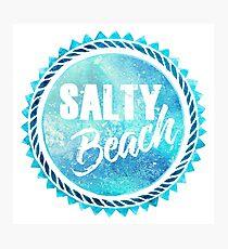 Salty Beach Photographic Print