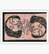 MIRROR LINO PRINT Sticker