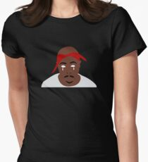 Tupac Illustration Womens Fitted T-Shirt