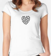Cycling / BMX / Mountain biking - Bike Chain Heart - T-Shirt Women's Fitted Scoop T-Shirt