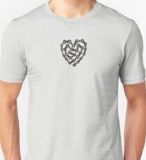 Cycling / BMX / Mountain biking - Bike Chain Heart - T-Shirt Unisex T-Shirt