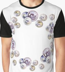 Frame of pearls. Watercolor painting.  Graphic T-Shirt