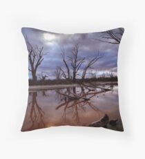 Backwater Blues Throw Pillow