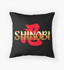Shinobi - SEGA Genesis Title Screen Throw Pillow