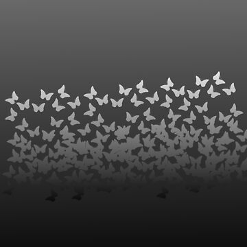 Butterfly Horde ;) Gray on black insects pattern by cool-shirts