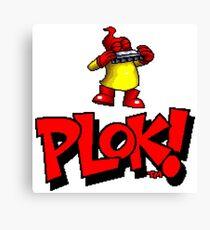 Plok - SNES Title Screen Canvas Print