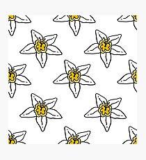 flower of vanilla seamless doodle pattern Photographic Print