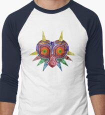 Majora's Mask Splatter Men's Baseball ¾ T-Shirt