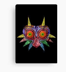 Majora's Mask Splatter Canvas Print