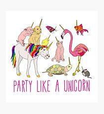 Party Like A Unicorn Photographic Print