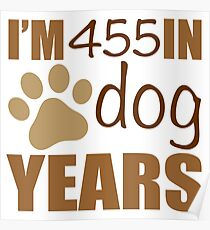65th Birthday Dog Years Poster