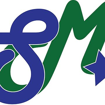 Super Millennion Lettermark Blue/Green by Millennion