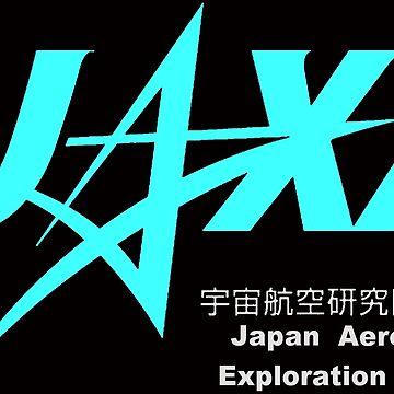 Japan Aerospace Exploration Agency Logo For Dark Colors by Spacestuffplus