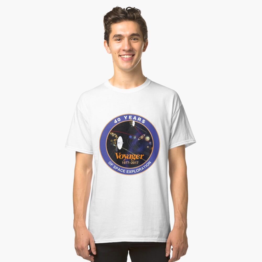 Programa Voyager: logotipo del 40 aniversario Camiseta clásica