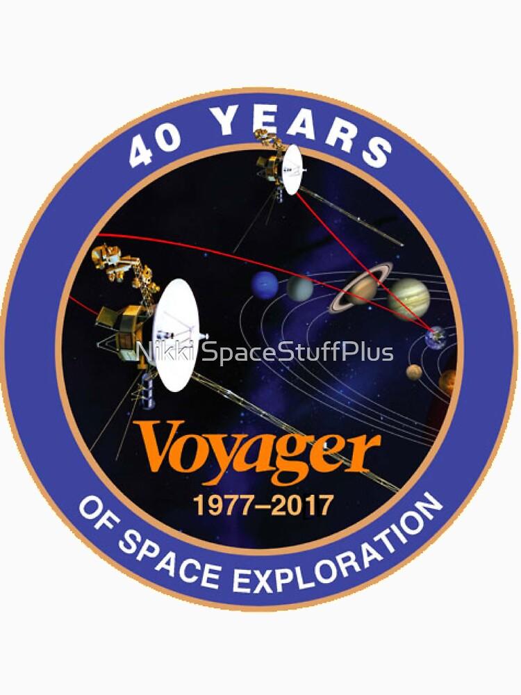Programa Voyager: logotipo del 40 aniversario de Spacestuffplus