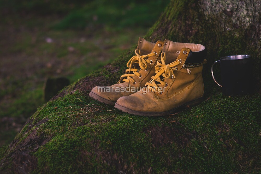 hiking boots by marasdaughter