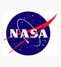 Official NASA (meatball) Logo Photographic Print