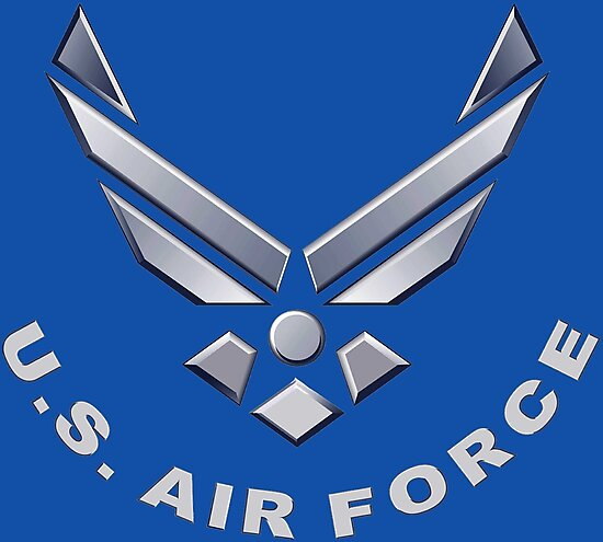 U S Air Force Symbol For Dark Colors Photographic Prints By