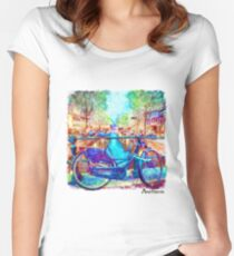 Amsterdam Bicycle Women's Fitted Scoop T-Shirt