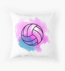 Volleyball Watercolor Throw Pillow