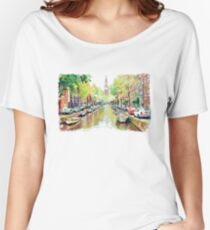 Amsterdam Canal 2 Women's Relaxed Fit T-Shirt