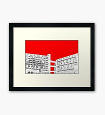 Park Hill Red Framed Print