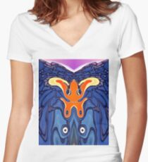Wild Style Airbrush Women's Fitted V-Neck T-Shirt