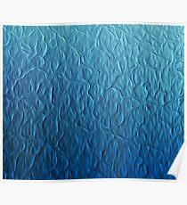 Light Blue Waves Pattern Poster