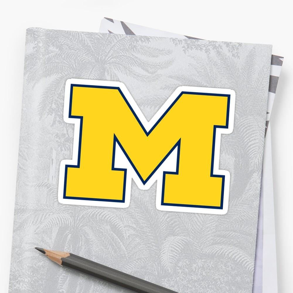 michigan logo by catscollegecuts