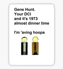 Gene Hunt and Sam Tyler- Life on Mars  Sticker