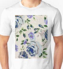 blue white flowers  Unisex T-Shirt