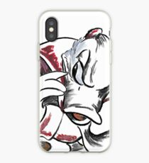 Charcoal and Oil - Devil Donald Duck iPhone Case