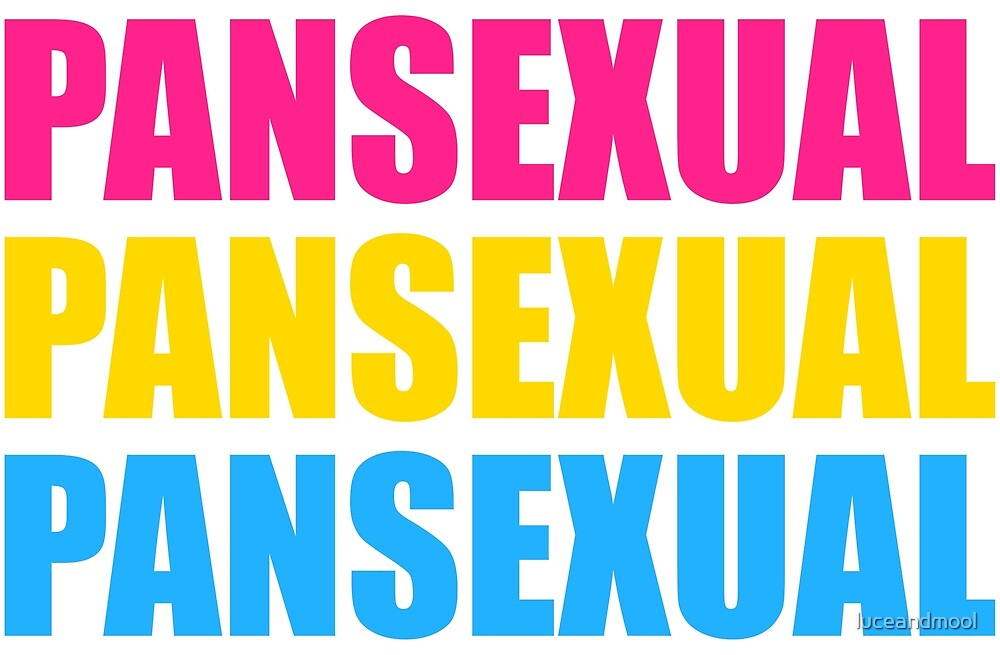 Pansexual Text Flag by luceandmool