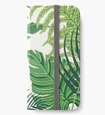 Green tropical leaves iPhone Wallet/Case/Skin