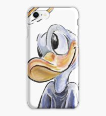 Charcoal and Oil - Angel Donald Duck iPhone Case/Skin